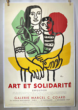 VTG 1957 FERNAND LEGER ART ET SOLIDARITE PARIS EXPO LITHOGRAPH PRINT