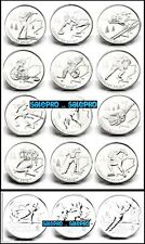 15x CANADA 2007 - 2010 25¢ VANCOUVER OLYMPIC QUARTER 25 CENT COIN SET LOT UNC