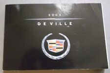 2002 Cadillac De Ville Owners Manual Original