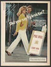 PALL MALL Light 100S cigarettes-1982 Vintage Print Ad