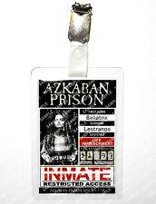 Bellatrix Lestrange Azkaban Prison ID Badge Harry Potter Cosplay Prop Comic Con