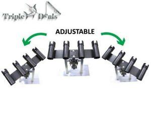 New Wilson Adjustable Black Powder Coated Bull Bar Rod Holder - Removable Holder