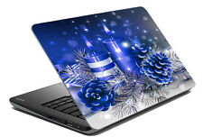 meSleep Blue Flower Laptop Decal - Laptop Skin- Size-14.1 to 15.6 inches