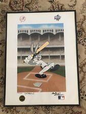 McKimson Signed Bugs Bunny Yankees World Series 1998 LE Print 2356/ 2375