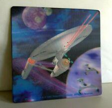 1997 Star Trek Tos Uss Enterprise Ncc-1701 3D Hologram Mouse Pad