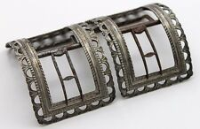 Beautiful 1770's - 80's Shoe Buckles in Coin Silver & Steel. Maker Marked.