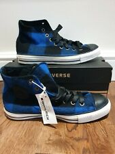 Converse All Star Woolrich Blue Black White High Tops UK 8 EU 41.5 Brand NEW BOX
