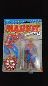 1st Series Spider-Man Toy Biz Vintage 1990 MOC Marvel Superheroes Web Suction