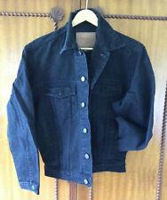 "Vintage ~ ""Westco"" ~ Classic Black Denim Jacket ~ Xs"
