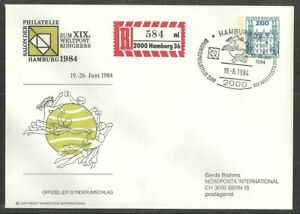 GERMANY 1984 UPU HAMBURG OFFICIAL COMMEMORATIVE COVER