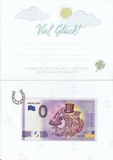 0-Euroschein XECY 2020 - 1 GOOD LUCK Anniversary - mit Viel Glück Karte / Folder