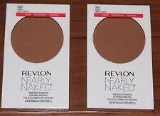 Revlon Nearly Naked Pressed Powder - Dark # 060 - Two - Both Brand New / Sealed