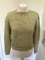 Gorgeous Women's COS Yellow Print Knit Jumper Size XS