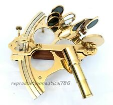 Handmade Shiny Brass Sextant Collectible Nautical Sextant Desktop Decor
