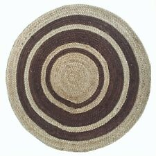 Classic Beige Hand Woven Durable Soft Warm Jute Contemporary Traditional