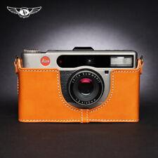 Funda de cuero Leica Minilux Zoom cámara insertar Media Cubierta Tp Hecho a Mano Estilo Retro