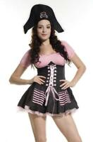 Ladies Pirate Treasure Hunt Fancy Dress Costume Womens Hen Party Outfit UK 8-10