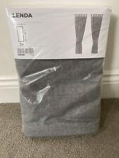 IKEA LENDA Curtains with tie-backs-1 pair 100% cotton 140 x 250 cm