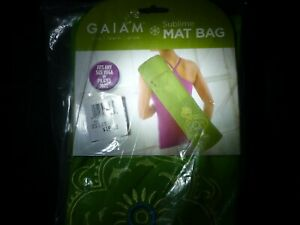GAIAM Sublime Embroidered Yoga Mat Bag 05-59198 NEW in Sealed Bag!  018713591982