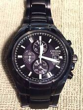 Citizen CA0265-59E Mens Black Titanium Eco Drive Chronograph Sapphire Watch 100m