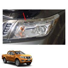 Head Lamp Light Cover Chrome LH RH Nissan NP300 Navara Frontier fit 2015 16 17