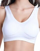 WOMENS SEAMLESS COMFORT BRA Comfy Shapewear Sport Wirefree Top Vest Support BRAS