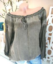 Maglie e camicie da donna manica lunghi marrone , Taglia 40