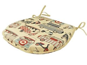 Campervan D-Shaped Garden/Patio/Kitchen/Dining Tie-On seat pads *3 Sizes*