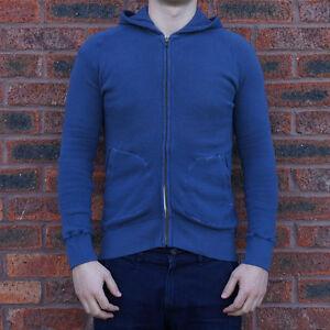 SALE - Loop & Weft Long Pile Hooded Sweatshirt - Blue - Made in Japan