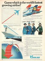 1977 Original Advertising' Vintage American Iran Middle East Air Airlines