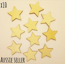40mm Star Wooden Flat Craft Jewellery Disc Lazer Cut Tag Unfinished Scrapbooking
