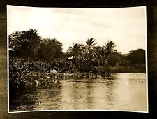 SCENE AT HALEIWA OAHU HAWAII TERRITORY 1923 Original 6x8 Photograph