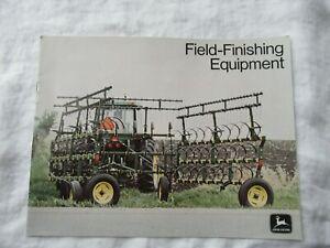 John Deere field cultivator harrows brochure