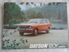 Datsun 120Y Estate brochure Oct 1976