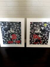 Original CRISP Limited FRAMED Minnie Mickey Canvas Mouse Pop art Kaws Banksy His