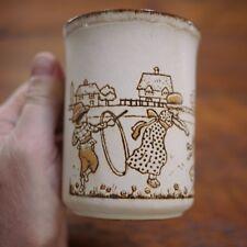 Dunoon Ceramics Victorian Kids Playing Scotland Stoneware Tea Cup Coffee Mug