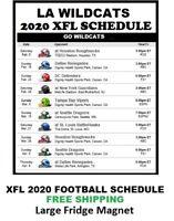 2020 Los Angeles Wildcats XFL Team Football Schedule