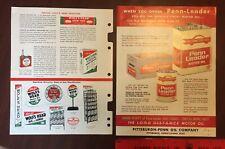Wolf's Head & Penn Leader Vintage Paper Oil Advertising Pittsburgh Pennsylvania