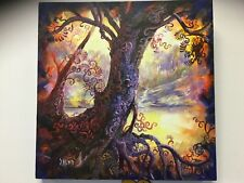 Original Painting  Tree of life on stretched Canvas 46 X 46 X 4 cm