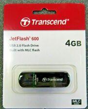 4GB USB 2.0 Flash Drive JetFlash 600 Transcend Bulit with MLC flash laptop pc