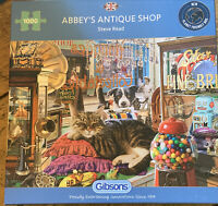 "Gibsons ""Abbey's Antique Shop"" 1000 Piece Jigsaw Puzzle by Steve Read Complete"