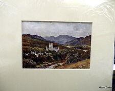 Vintage Print Sutton Palmer mounted to frame c1912 Balmoral Aberdeenshire