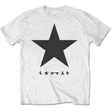 David Bowie Blackstar Logo on White Large Mens T Shirt Official