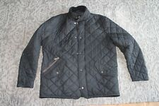 Mens Quilted Barbour Jacket Black size Large