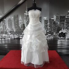 Organza Gown  (Off White-Size 10-12) Wedding, Beach Wedding, Ball, Prom etc