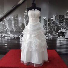 Abito da Organza (Biancastro-Taglia 10-12) Matrimonio, da Spiaggia Matrimonio, Prom Ball, ecc.
