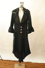 Moheb Hafizz Couture Evening Coat Avant Garde Tails Rock & Roll Black White 8