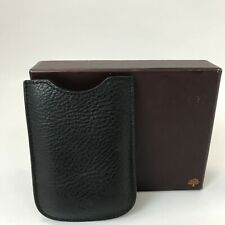 Mulberry Cardholder Pouch Black Genuine Leather Textured Smart Cased 291316