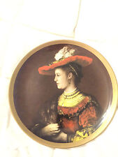 VINTAGE USA RIDGEWOOD FINE CHINA VICTORIAN WOMAN IN HAT LARGE PLATE ROUND DISH