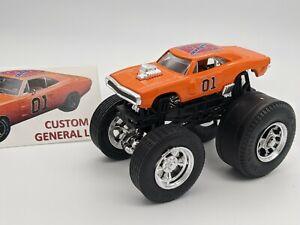 CUSTOM Hot Wheels Monster Jam Truck Dukes of Hazard General Lee '70 Dodge Charge